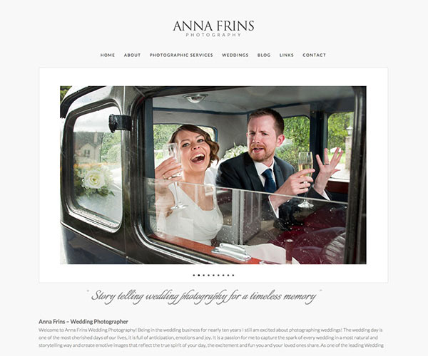 Anna Frins Fotografin Homepage