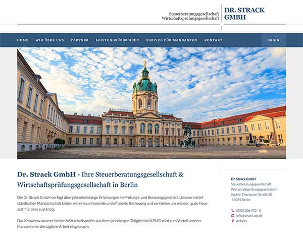 Homepage Dr. Strack GmbH
