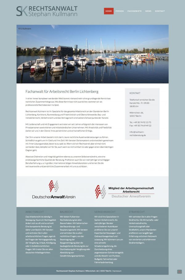 Kullmann Wordpress Website