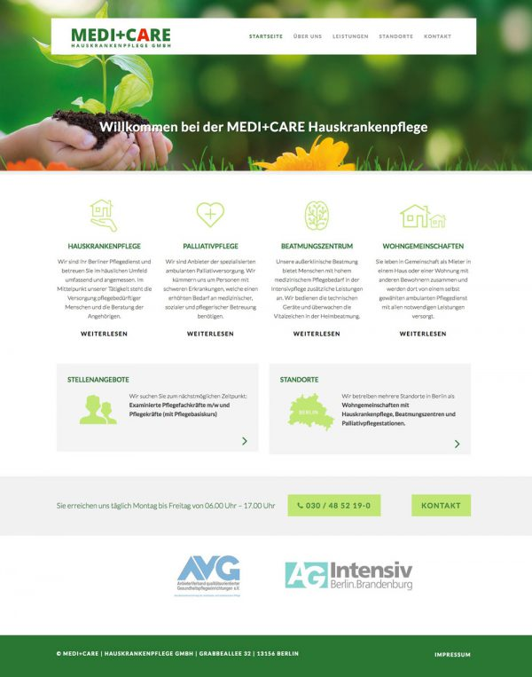 medi und care website
