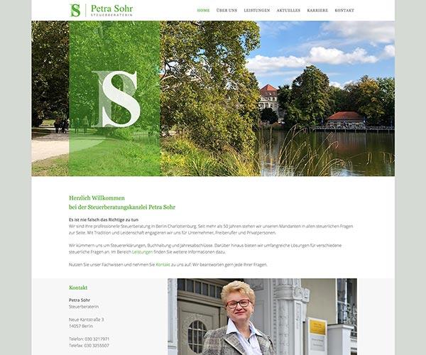 Website Petra Sohr