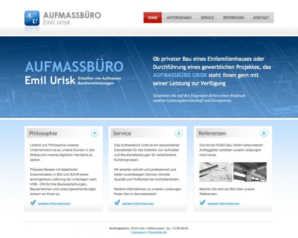 Website Aufmass Urisk
