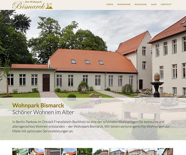 Wohnpark Bismarck Homepage